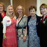 2014-2015 ABWA National President Nancy Griffin and 2014-2015 National Vice President Meg Bell with KCEN Members Jan Jensen, Nancy Ballenger, and Danielle Wallace